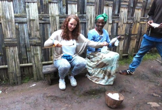 Learning handicraft making while traveling to Ethiopia